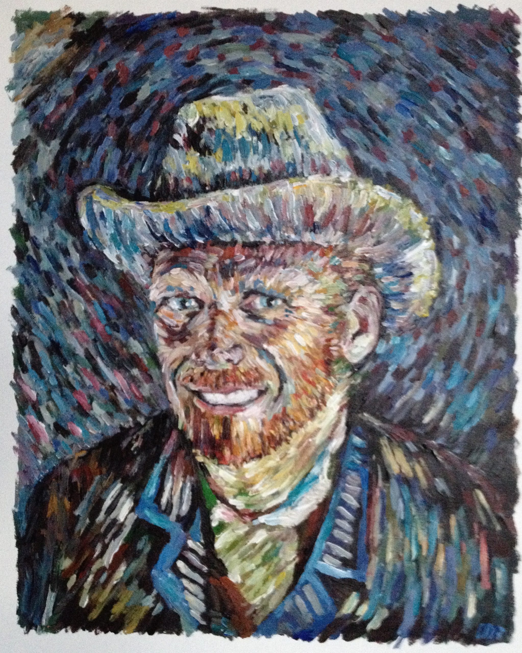 Portrait van Gogh style